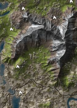 A mountainous divide providing pockets of isolation