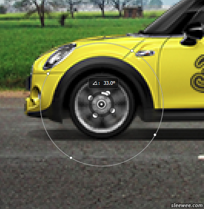 Spin Blur filter used on car wheels
