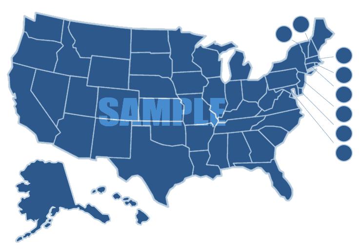 Dark Blue U.S. Map